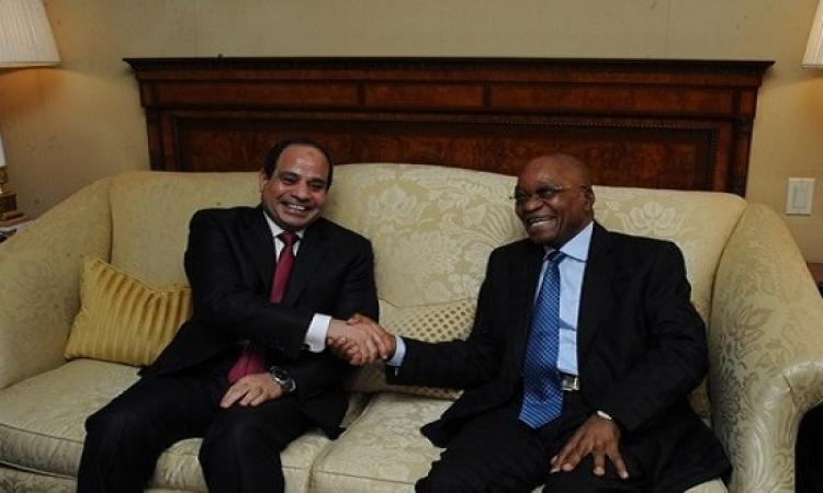 قمة مصرية – جنوب إفريقية بين السيسى وجاكوب زوما لبحث التعاون المشترك