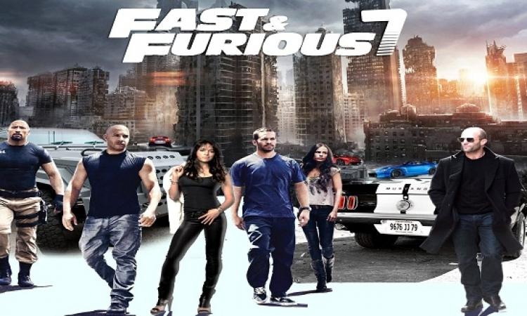 Furious 7 يواصل الاحتفاظ بصدارة الايرادات للأسبوع الثالث على التوالى