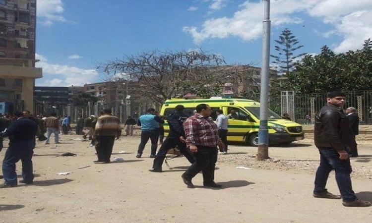 بالفيديو .. اللحظات الأولى لحادث انفجار قنبلة أمام استاد كفر الشيخ