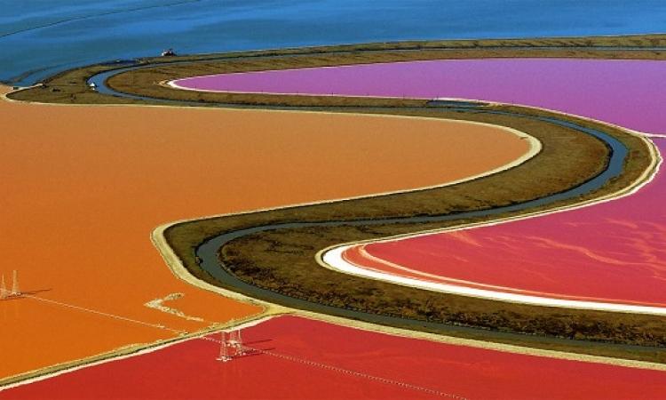 بركة الملح الملونة فى سان فرانسيسكو .. لوحات طبيعة مذهلة !!