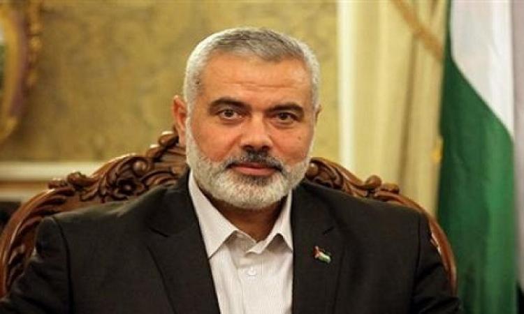 إسماعيل هنية يشكر مصر على مساعدة غزة
