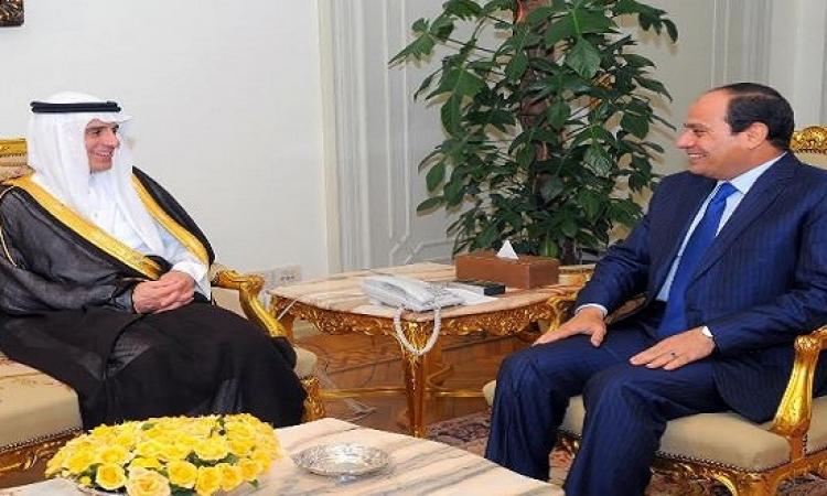 الرئاسة : توافق مصرى سعودى على أهمية الحل السياسى للأزمات الدولية