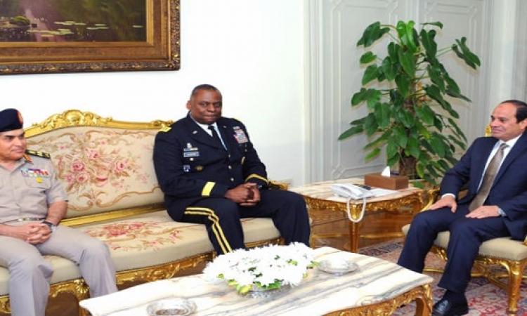 قائد القيادة المركزية الأمريكية للسيسى: ننظر إلى مصر باعتبارها شريكاً رئيسياً