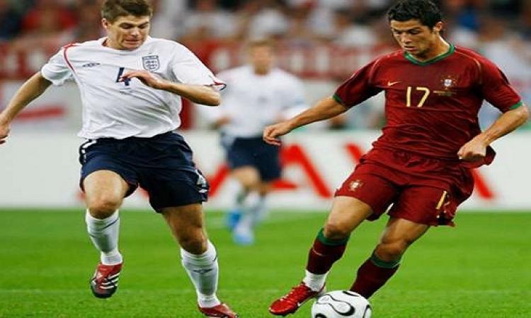رونالدو فخور باللعب ضد أسطورة ليفربول جيرارد