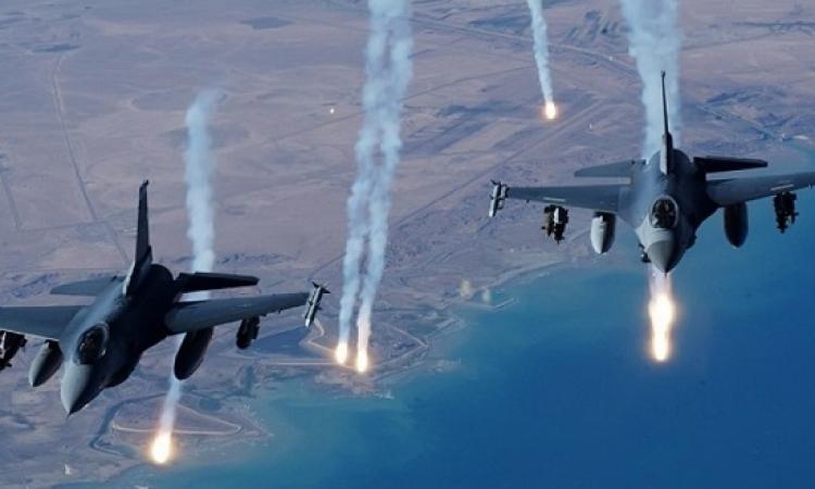 مقاتلات التحالف تدمر صاروخاً باليستياً للحوثيين أثناء تجهيزه