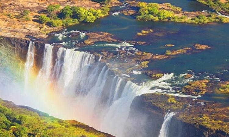 شلالات فيكتوريا فى زامبيا .. الضباب الصاعق المنسى !!