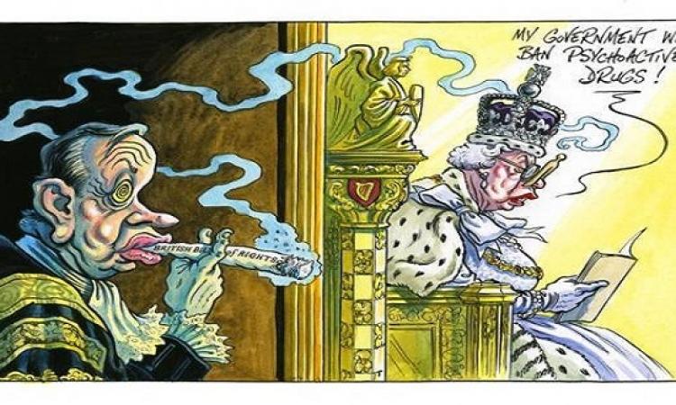كاريكاتير ساخر عن الملكة إليزابيث بسبب قانون