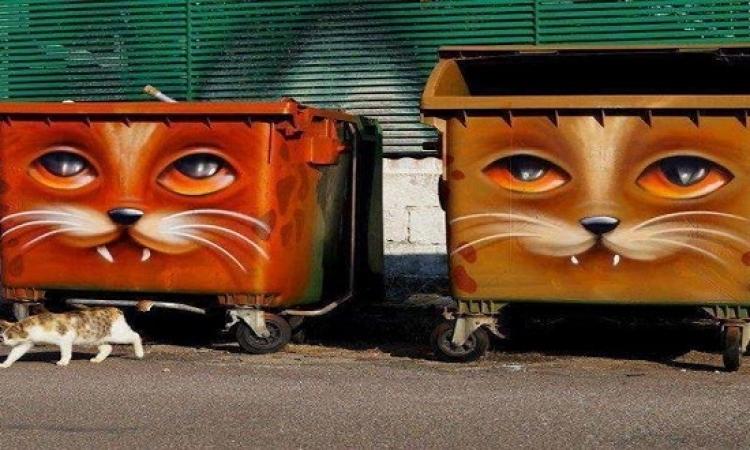 ماذا لو تحولت صناديق القمامة لقطع فنية؟