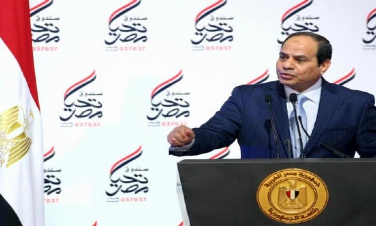 بالصور .. السيسى فى إفطار تحيا مصر : اللى ميعرفش مينفعش معانا دلوقتى
