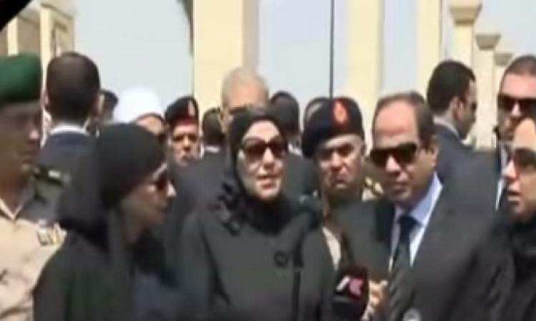 بالفيديو .. السيسى فى جنازة النائب العام : نواجه عدو خسيس .. والانتخابات قبل نهاية العام