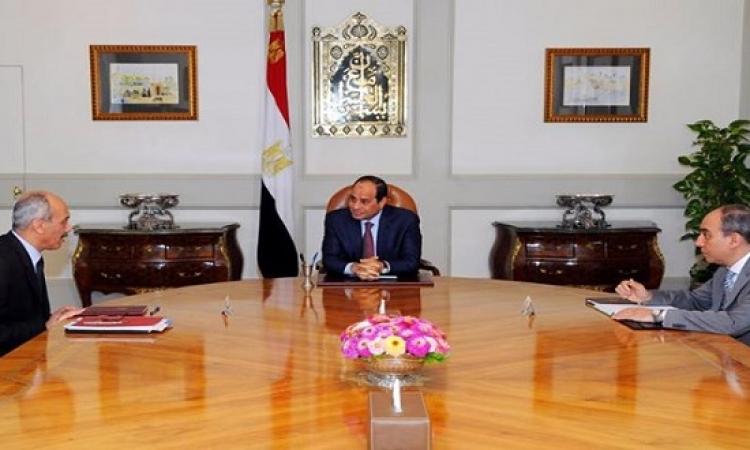 السيسى يجتمع برئيس الجهاز الوطنى لتنمية شبه جزيرة سيناء