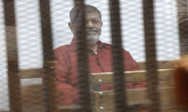النطق بالحكم اليوم على مرسى وآخرين فى قضية التخابر مع قطر