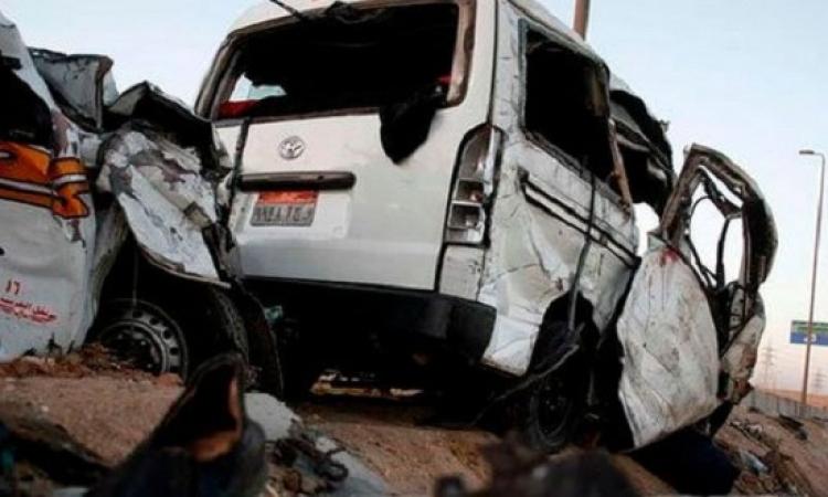 حادث تصادم أعلى طريق المحور تسبب فى توقف حركة المرور