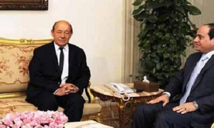السيسى يلتقي وزير الدفاع الفرنسى اليوم بقصر الاتحادية