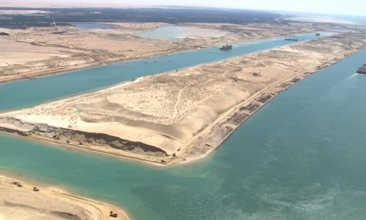 انتهاء اعمال التكريك بمنطقة البحيرات الكبرى بقناة السويس الجديدة