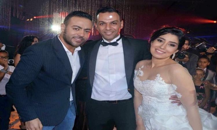 بالصور .. نخبة من الفنانين فى حفل زفاف آيتن عامر