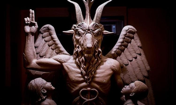 حفل إزاحة الستار عن التمثال المثير للجدل والتابع لجماعة معبد الشيطان