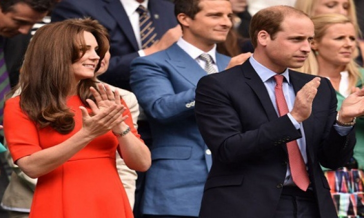 كيت مثيرة بالأحمر مع الأمير ويليام فى بطولة التنس