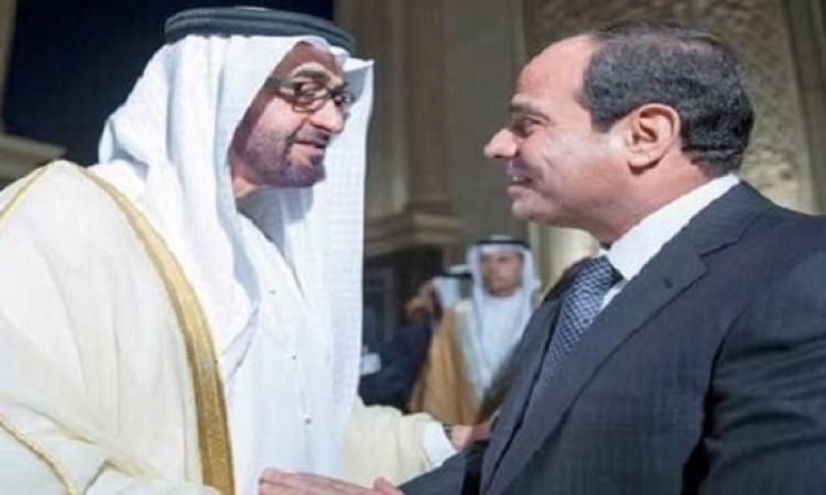 السيسى يبدأ نشاطاته بموسكو باستقبال ولى عهد ابو ظبى