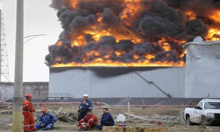 انفجار فى مصفاة نفطية يؤدى لحريق هائل بالكويت
