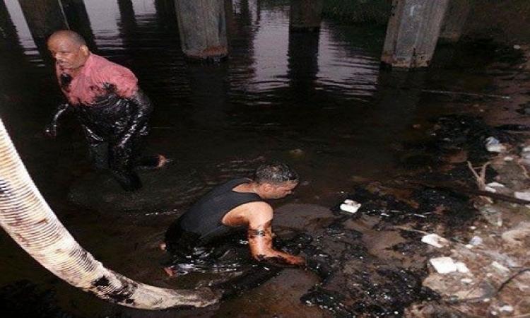 الصرف الصحى : تم السيطرة على بقعة السولار بنهر النيل