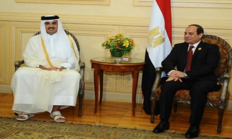 أمير قطر يهنئ السيسى هاتفيًّا بعيد الأضحى