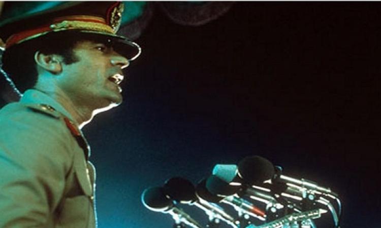 بالفيديو.. القذافى يلقى البيان الأول لثورة الفاتح من سبتمبر 1969