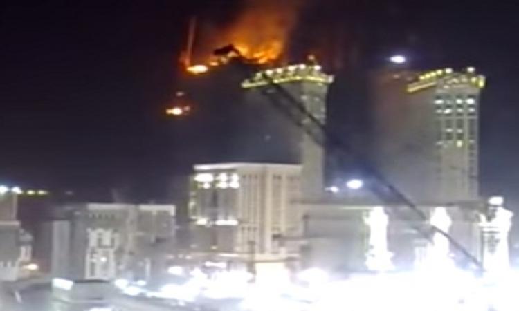 بالفيديو.. حريق فندق بحى العزيزية فى مكة المكرمة