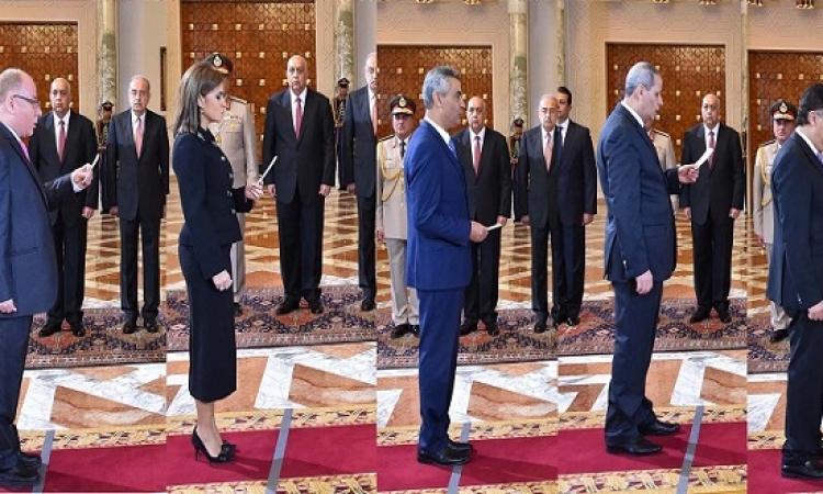 بالصور .. اداء حكومة شريف اسماعيل اليمين امام الرئيس السيسى