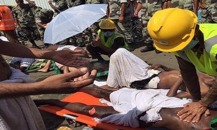 بالصور .. حادث التدافع بمنى وعمليات نقل الضحايا