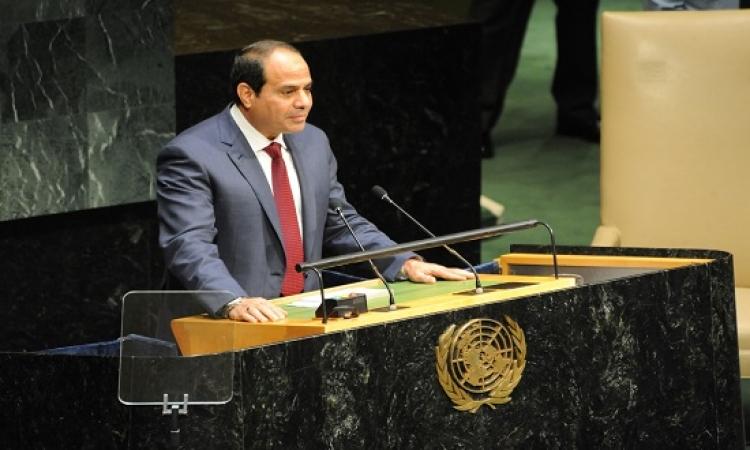 السيسى يلقى اليوم كلمة مصر أمام الجمعية العامة للأمم المتحدة