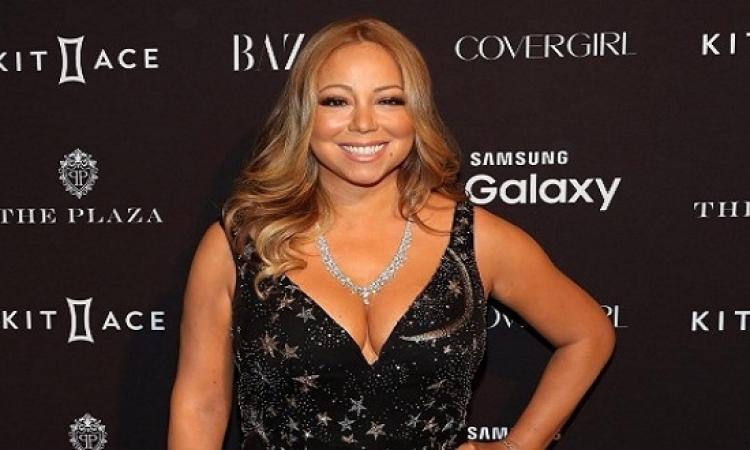 الجميلة ماريا كارى تتألق بفستان النجوم الذهبية فى نيويورك