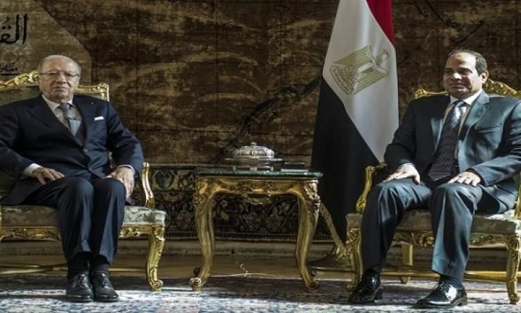 السيسى للرئيس التونسى : الإرهاب ظاهرة بغيضة يجب التصدى لها