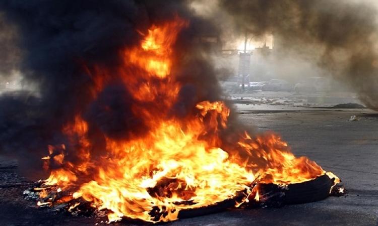 حرق الكتب المدرسية بمدينة سرت الليبية على يد الدواعش