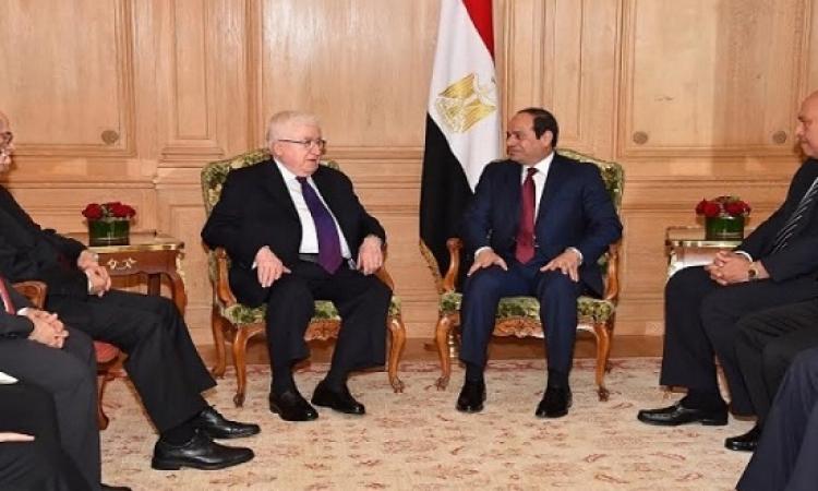 السيسى يؤكد التزام مصر بدعم ومساندة الحكومة العراقية