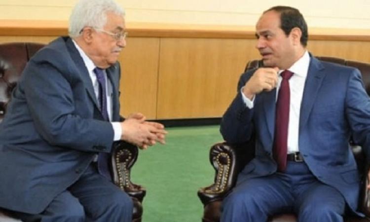 السيسى يلتقى بالرئيس الفلسطينى فى باريس