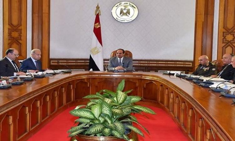 الرئيس السيسى يرأس اجتماع مجلس الأمن القومى بقصر الاتحادية