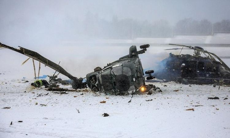 12 قتيلاً فى تحطم مروحية روسية .. هو مفيش حد بيقعلوا طيارات غيرهم !!