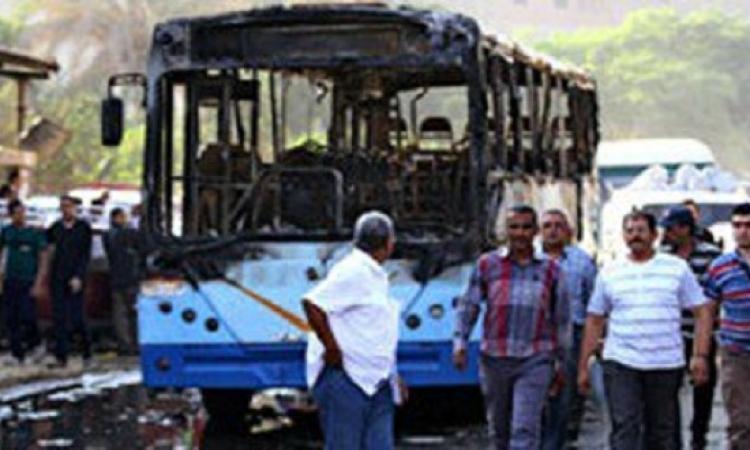 تفحم 13 طالبا بأتوبيس مدارس بالبحيرة بعد اصطدامة بسيارة محملة بالبنزين