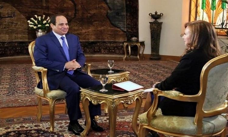 السيسى لبى بى سى : الإخوان جزء من الشعب .. واحكام الاعدام الصادرة لن تنفذ