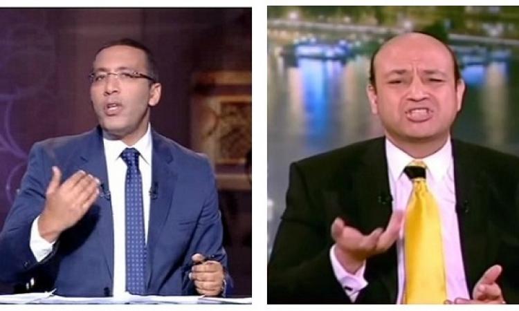 بالصور .. عمرو أديب يتصالح مع خالد صلاح .. الصلح خير