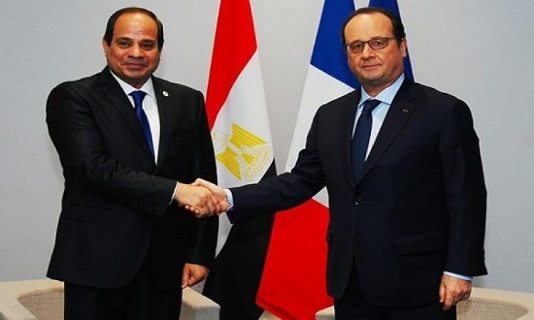 قمة مصرية – فرنسية بين السيسى وهولاند بالقاهرة غداً