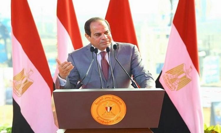 السيسى يحذر : محاولات التشكيك هدفها ضرب إرادة الشعب المصرى
