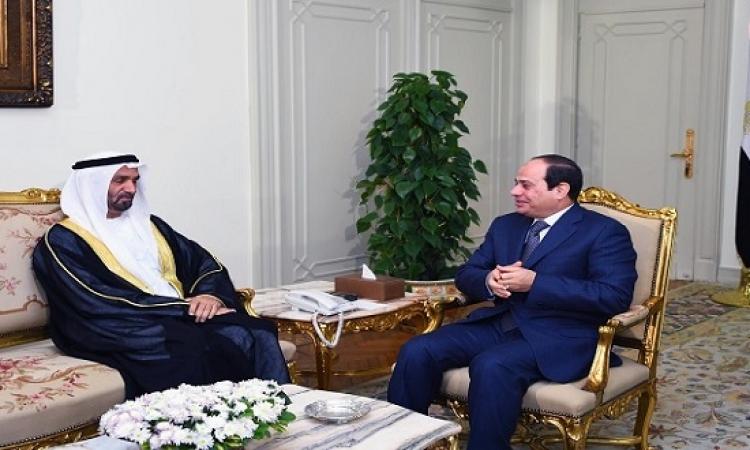 السيسى يؤكد اهتمام مصر بتعزيز العلاقات مع البرلمان العربى