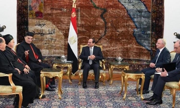 السيسى يؤكد حرص مصر على حفاظ أمن واستقرار لبنان