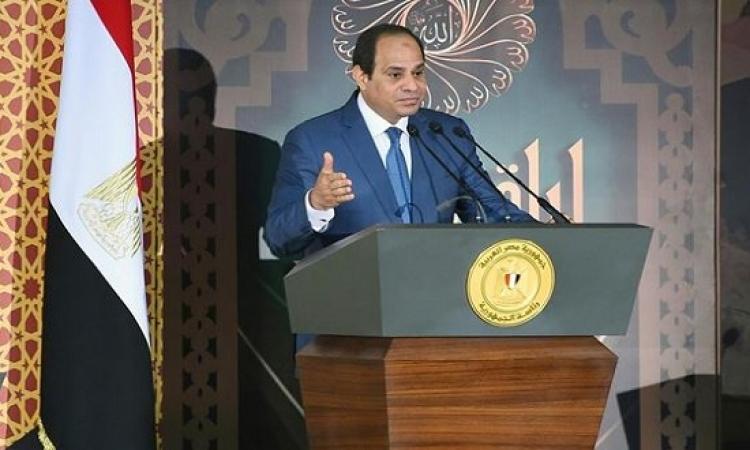 الرئيس السيسى يشهد اليوم الاحتفال بالمولد النبوى ويوجه كلمة للأمة الإسلامية