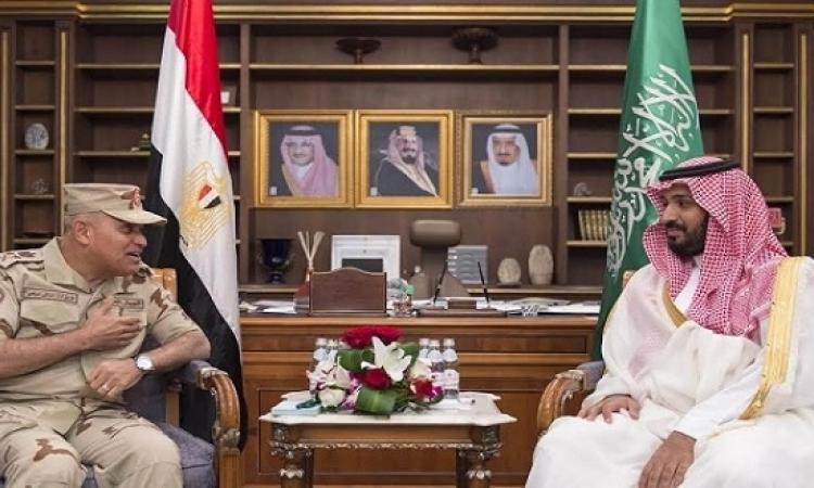 صدقى صبحى يعقد جلسة مباحثات مغلقة مع الأمير محمد بن سلمان بالرياض