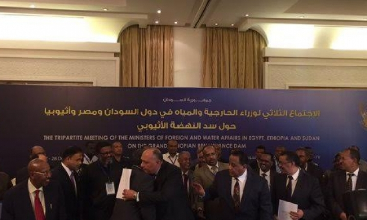 وزراء خارجية مصر والسودان وأثيوبيا يوقعون وثيقة الخرطوم لحل الخلافات