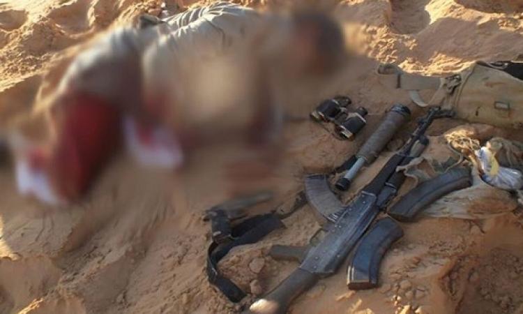 بالصور .. مقتل إرهابيين أحدهما متورط بقتل النقيب أيمن الدسوقى بسيناء