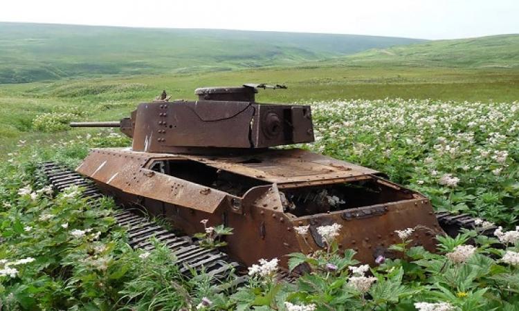 بالصور .. حينما تهزم الطبيعة الدبابات .. السلام يهزم الحرب !!